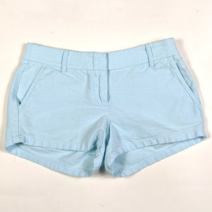 "J. Crew 3"" Oxford Size 2 Light Blue Chino Shorts"